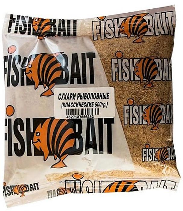 Сухари для прикормки FishBait Классические, 0,5 кг3082912Сухари - традиционная приманка для рыбной ловли. Являются универсальной составляющей для привлечения рыбы в место ловли в любое время года. Сухари FishBait могут быть использованы в составе прикормочных смесей или рыболовных каш. Для эффективного прикармливания рекомендуется добавление мотыля, мормыша или гаммаруса.