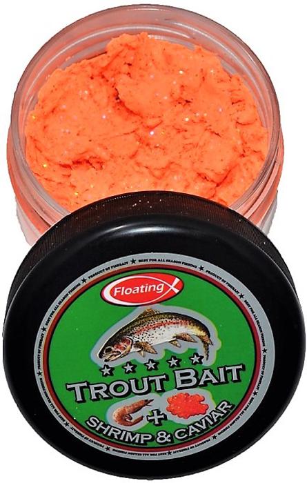 Паста форелевая FishBait Креветка & Икра, зимняя, цвет: оранжевый, 75 млfbw-7521558Паста форелевая FishBait - яркие UV цвета, обилие блесток и оптимально подобранный аромат привлекают внимание рыбы, и являются раздражителем, провоцирующим форель на поклевку. Интенсивный запах не позволит даже самой капризной рыбе остаться равнодушной. Благодаря идеально подобранной консистенции паста отлично держится на крючке, остается эластичной на холоде, не боится замерзания и высыхания.