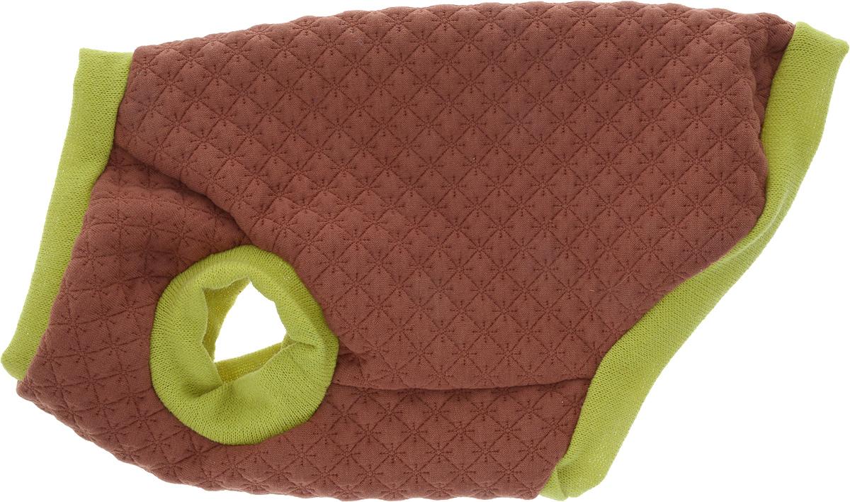 Свитшот для собак Happy Puppy, унисекс, цвет: темно-коричневый, салатовый. Размер XLHP-170066-4_темно-коричневый с салатовымHappy Puppy - это множество самых разнообразных моделей для прогулок, тренировок, праздников и отдыха. Эти наряды и аксессуары для дома и на выход, на любую породу, весовую категорию и предпочтения.Свитшот для собак Happy Puppy легко надевать и снимать. Модель имеет удлиненную спинку.Этот теплый и комфортный свитшот станет отличным дополнением к гардеробу вашего питомца. В нем ему всегда будет тепло в прохладное время года.Одежда для собак: нужна ли она и как её выбрать. Статья OZON Гид