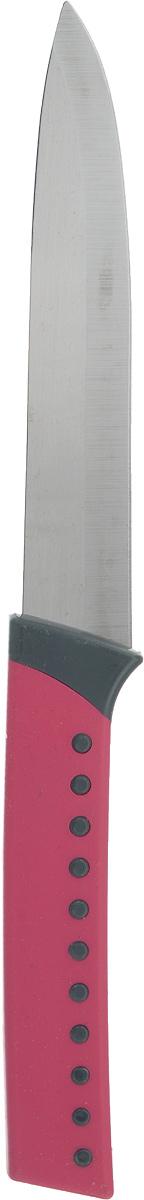 Нож для овощей Herevin, цвет: малиновый, длина 23 см. 361204-000361204-000_малиновыйНож для овощей Heverin станет практичным приобретением для кухни. Лезвие ножа выполнено из нержавеющей стали и имеет серрейторную заточку, которая позволяет легко нарезать овощи и фрукты с мягкой сердцевиной, например, помидоры, а также хлеб. Рукоятка выполнена из пластика с приятным на ощупь прорезиненным покрытием. Эргономичный дизайн обеспечивает надежный хват и комфорт во время резки. Длина ножа: 23 см.
