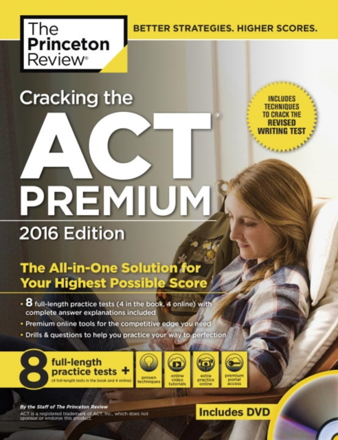 CRACKING ACT PREMIUM DVD 2016 cracking the ged test 2017 edition