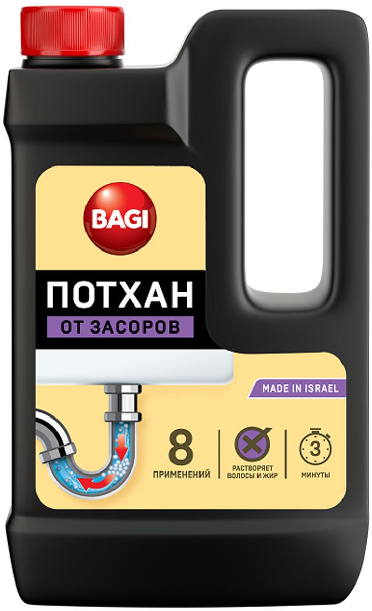 Средство для прочистки засоров в раковинах, ваннах, унитазах Bagi Потхан, 600 гH-395057-0Потхан Bagi - это гранулированное эффективное и экономичное средство для прочистки засоров в раковинах, ваннах, унитазах. Безопасен для пластиковых и металлических труб. Быстро и без остатка растворяет остатки пищи, известковый налет, бумагу, волосы и др. загрязнения.Способ применения: Удалить воду из раковины (ванны) примерно на 5 см ниже уровня сливного отверстия. Обеспечить хорошую проветриваемость помещения.Осторожно насыпать полстакана (70-100 гр) препарата в сливное отверстие, держа бутылку на вытянутой руке и отстранив голову. Добавить примерно полстакана (70-100 мл) горячей воды, также держа стакан на вытянутой руке. Подождать не более 3 минут и промыть трубу теплой проточной водой. При сильном засоре повторить действие. Регулярное применение очистителя избавит вас от проблем, связанных с механической прочисткой отстойников и труб.Меры предосторожности: Препарат не употреблять пищу! Хранить в недосягаемом для детей месте. В случае попадания в глаза, немедленно промыть проточной водой.Если Вы проглотили средство, необходимо выпить воды и немедленно обратиться к врачу! Храните препарат отдельно от других средств. Избегайте попадания на кожу. Это опасно! Характеристики: Вес: 600 г.Размер бутылки: 12 см х 3 см х 20 см.Размер упаковки: 12 см х 3 см х 20 см.Состав: гидрооксид натрия, моющие добавки.Уважаемые клиенты! Обращаем ваше внимание на то, что упаковка может иметь несколько видов дизайна. Поставка осуществляется в зависимости от наличия на складе.Как выбрать качественную бытовую химию, безопасную для природы и людей. Статья OZON Гид