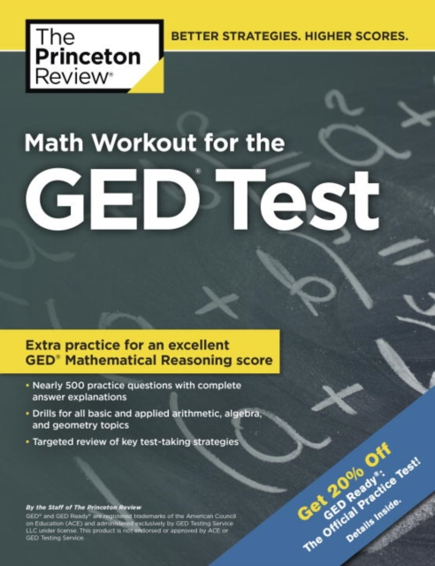 MATH WORKOUT FOR GED TEST cracking the ged test 2017 edition