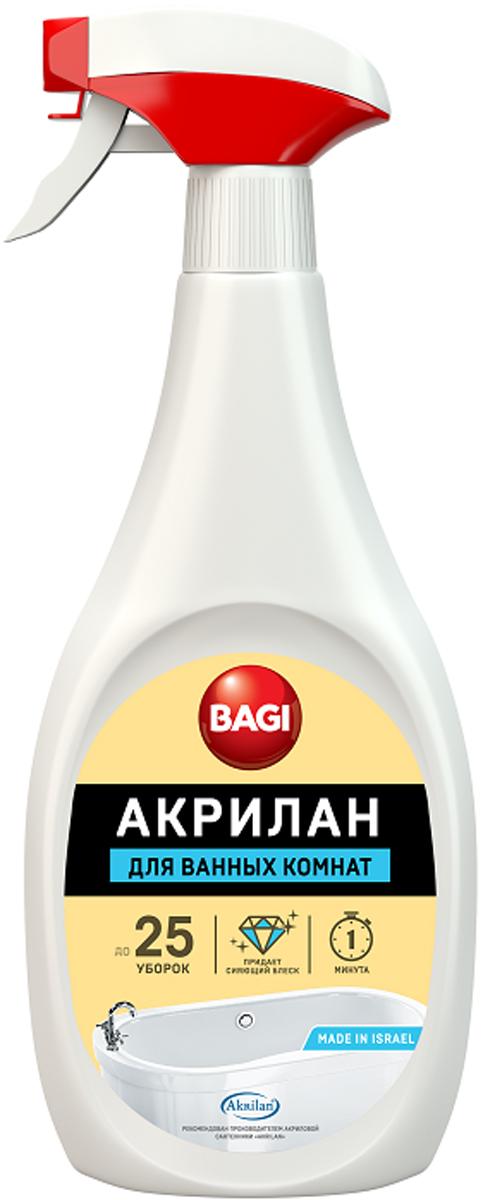 Средство для чистки и обновления эмалированных ванн Bagi Акрилан, 400 мл средство для чистки и профилактики систем джакузи bagi джакузи 1л