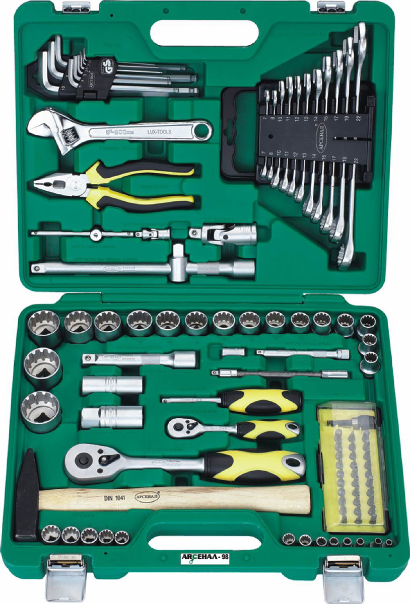 Набор инструментов Арсенал AA-C1412L98, 98 предметов набор инструментов арсенал 1920850 aa c1412l90
