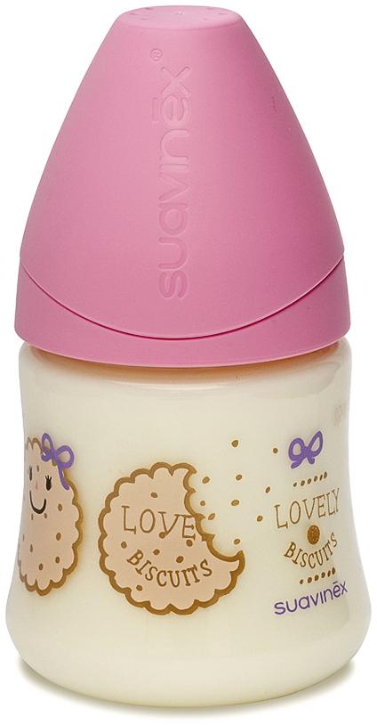 Suavinex Бутылочка от 0 месяцев с силиконовой соской цвет розовый 150 мл 3800141 jiahui gx12 5 12mm brass plastic waterproof connector silver 4 pcs