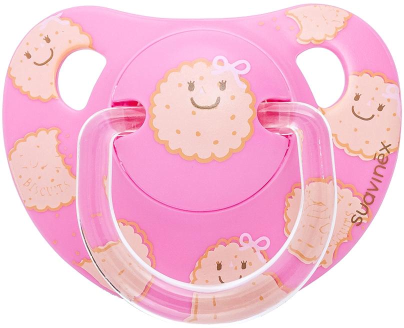 Пустышка 6+ мес, анатомическая, латекс, цвет розовый пустышка 6 мес анатомическая силикон