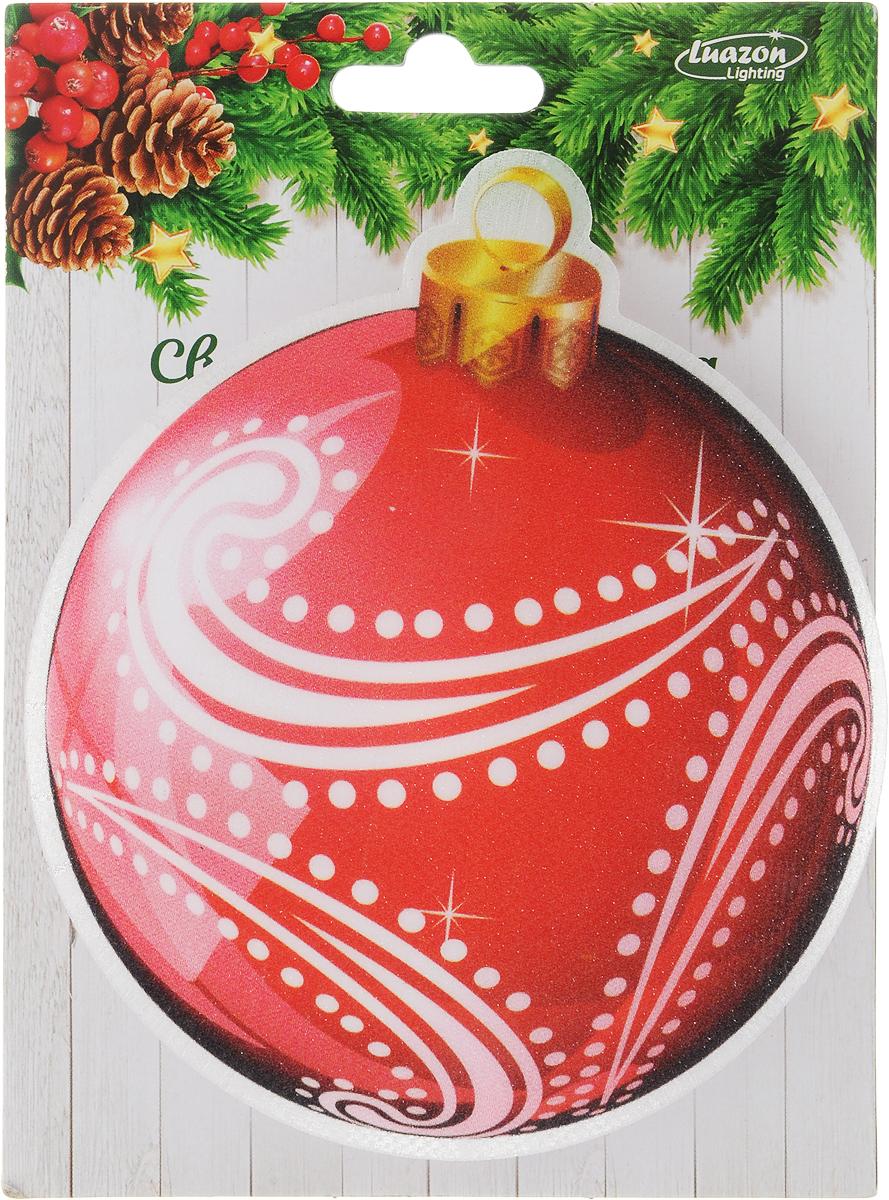 Картинка световая Luazon Елочный шар, на прищепке, цвет: красный2364002_красныйНовогодняя световая картинка из оптоволокна украсит небольшие предметыинтерьера в доме или офисе. В зависимости от способа крепления отличнорасположится на елке, в кухне, гостиной или в автомобиле. Находящийся сзадисветодиод подсвечивает рисунок всеми цветами радуги, создавая праздничнуюатмосферу.Работает от батареек (батарейки в комплекте).