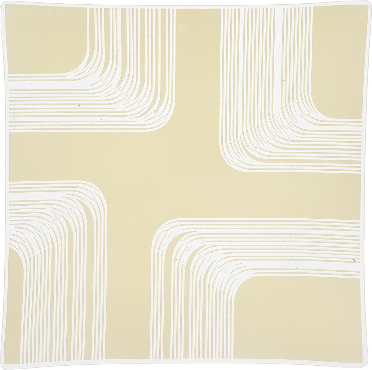 Тарелка NiNaGlass Сонет, цвет: белый, 25 х 25 х 2 см85-250*250-008/бел