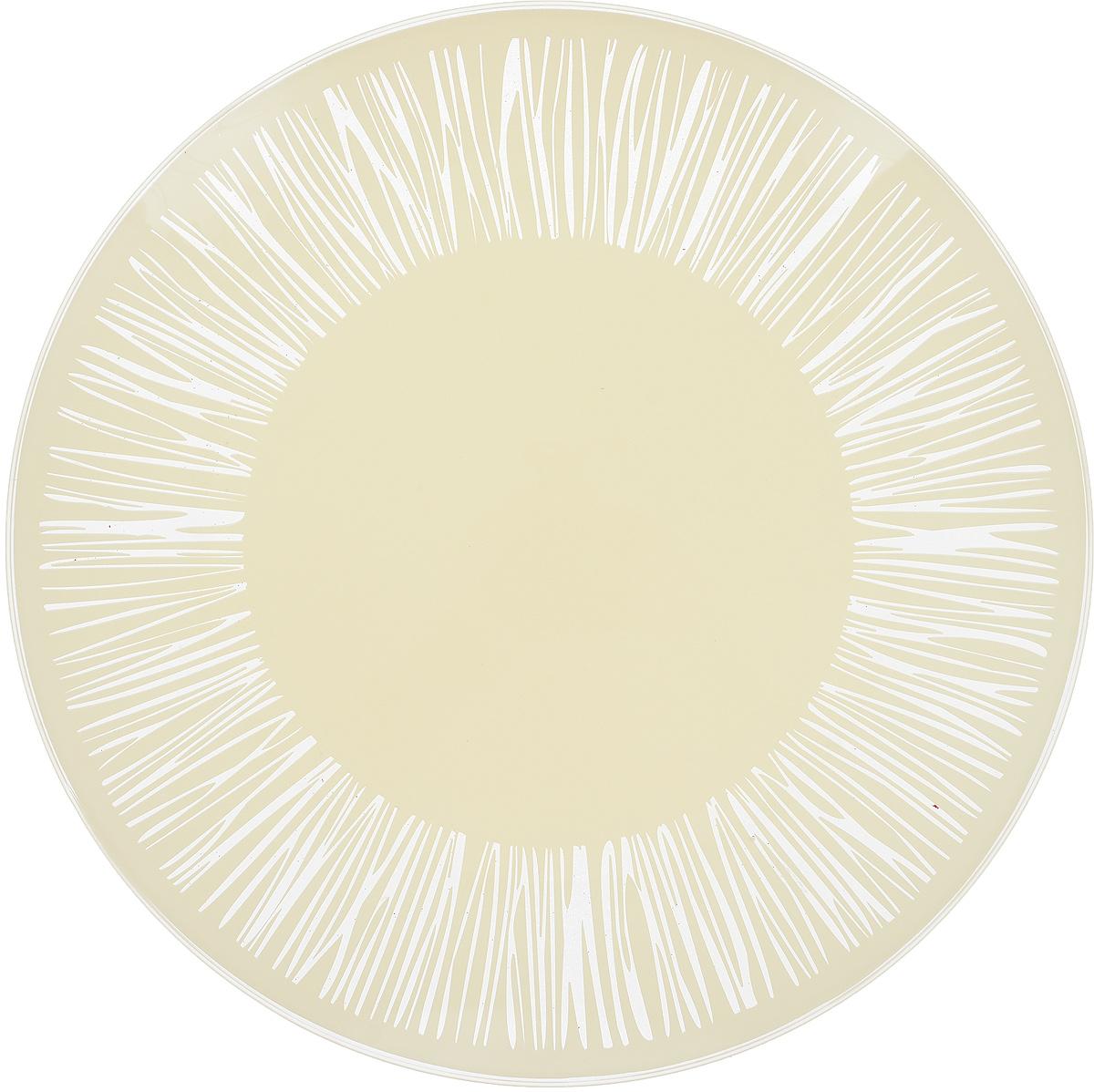 Тарелка NiNaGlass Витас, цвет: белый, диаметр 26 см ваза ninaglass дана цвет шоколад высота 16 см