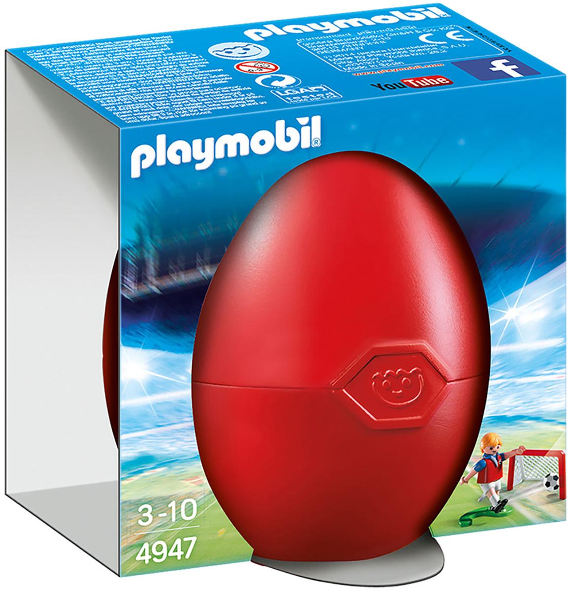 Playmobil Пластиковый конструктор Футболист с воротами и мячом playmobil® playmobil 5289 секретный агент мега робот с бластером