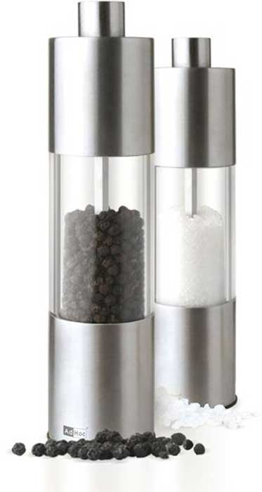 Мельница для соли и перца AdHoc Classic Medium, 18 см. 010.070800.036010.070800.036Мельница для соли и перца AdHoc, серия CLASSIC MEDIUM, 18 смТМ Адхок (AdHoc, Германия) – мельницы для специй от ручных до автоматических, аксессуары для чая, кухонные приспособления, бар и вино. Несмотря на такое разнообразие продукции, все предметы связаны единым подходом к дизайну, который отличает безупречная функциональность и умные детали. Кроме того, товары Adhoc изготовлены их лучших материалов – нержавеющей стали, высококачественного пластика, дерева и силикона. Вся линейка очень притягательна визуально и любой предмет может служить интересным подарком или просто доставлять удовольствие владельцу.