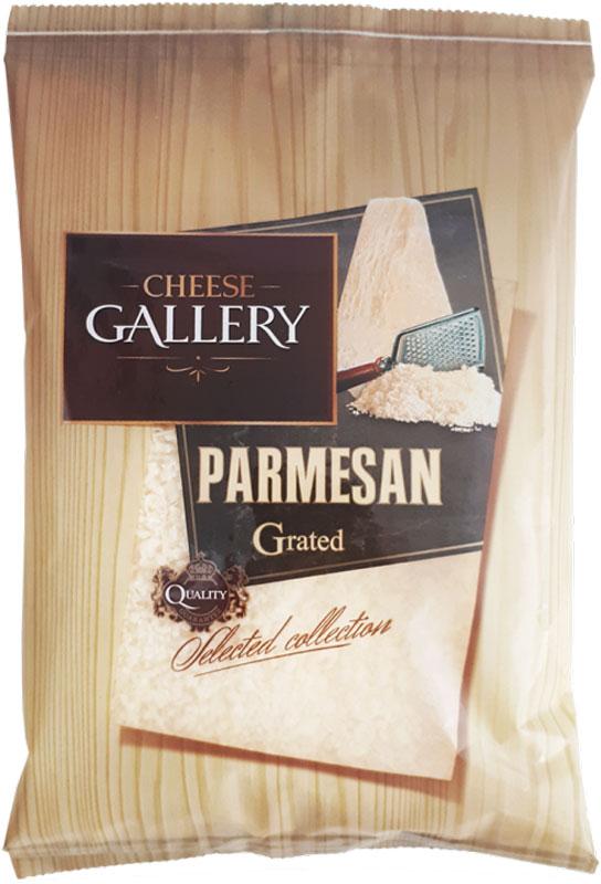 Cheese Gallery Сыр Пармезан, 38%, гранулы, 100 г105-792В наши дни пармезан — такой же обязательный ингредиент на кухне, как соль или масло, практически универсальный усилитель вкуса Тертый Пармезан Cheesy Gallery идеален для горячих мясных и овощных блюд, его добавляют в овощные салаты и поленту, им