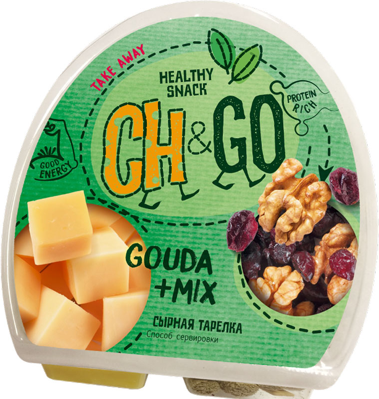 Cheese&Go Гауда, Клюква, Грецкий орех, сырная тарелка, 115 г cheese gallery