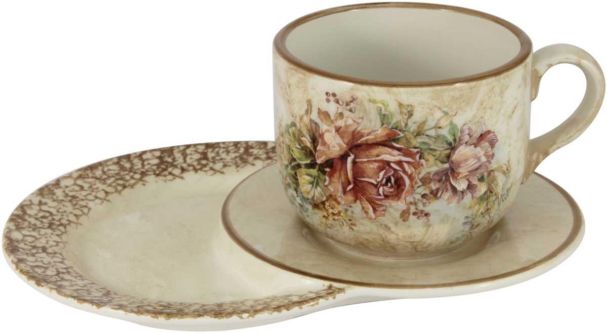 Чашка на маленьком подносе LCS Элианто, 500 мл26474Чашка на маленьком подносе LCS Элианто украсит ваш кухонный стол, а также станет замечательным подарком к любому празднику.