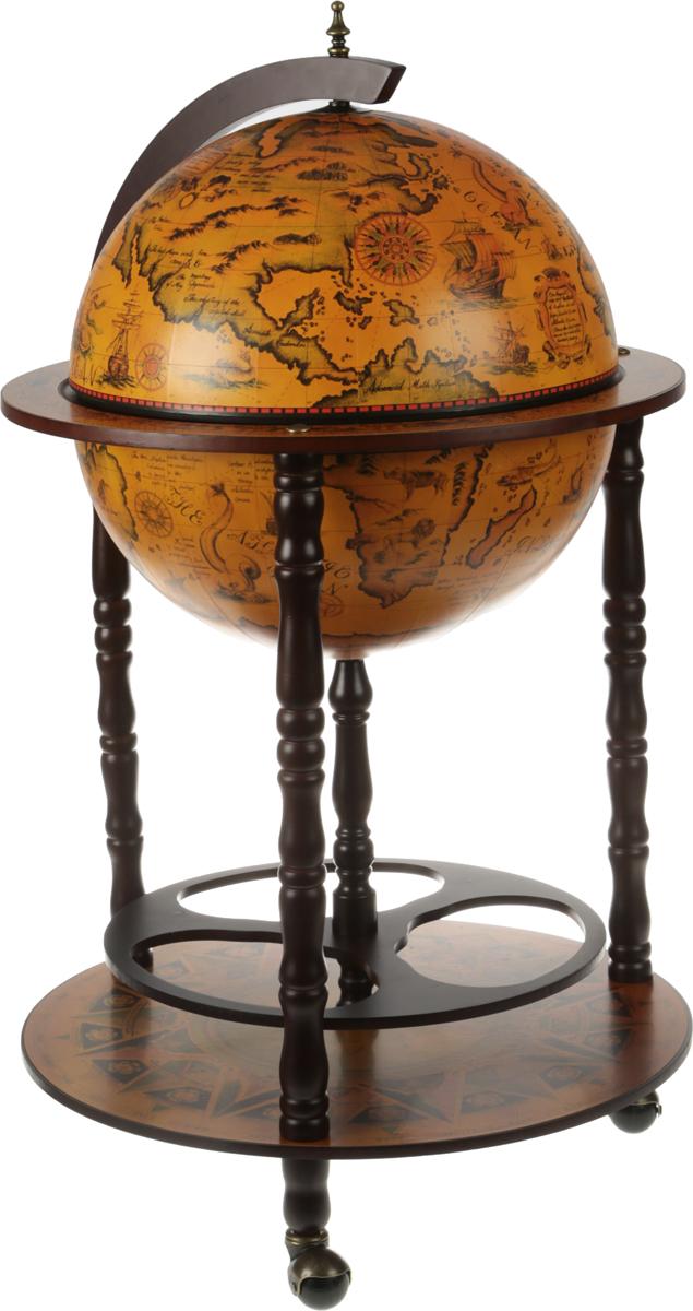 Бар декоративный Глобус, цвет: коричневый, 50 х 90 см глобус бар напольный с широким основанием