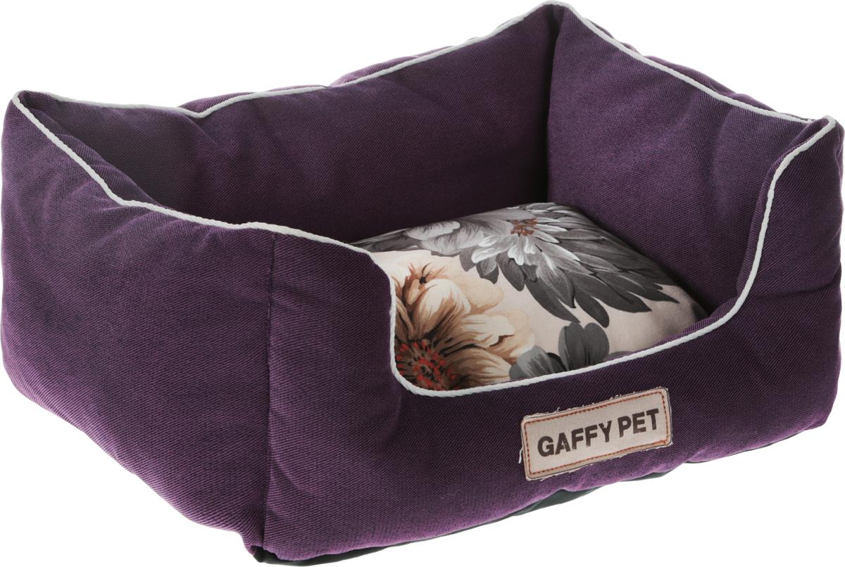 Лежак Gaffy Pet Flower, цвет: пурпурный, 45 х 35 х 22 см россия 3в216 4 сумка 19 6х9х24 5см