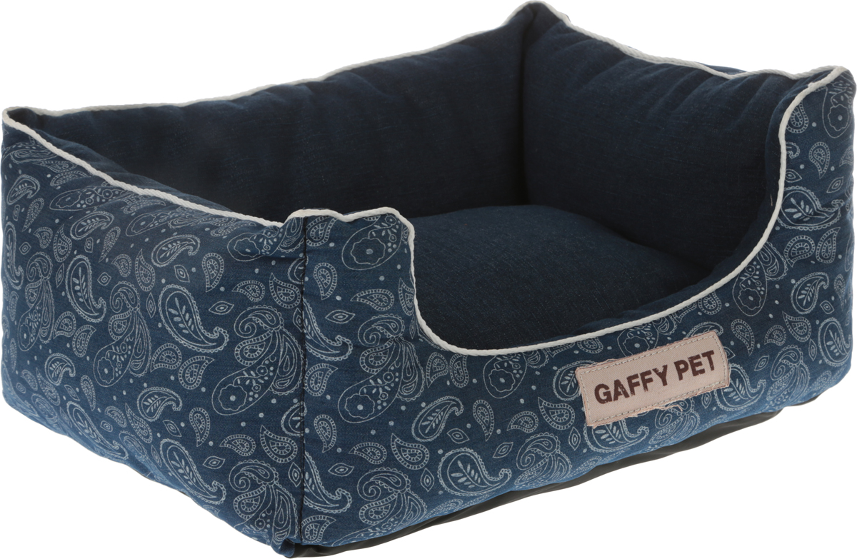 Лежак Gaffy Pet Square Paisley, цвет: синий, 45 х 35 х 22 см цена