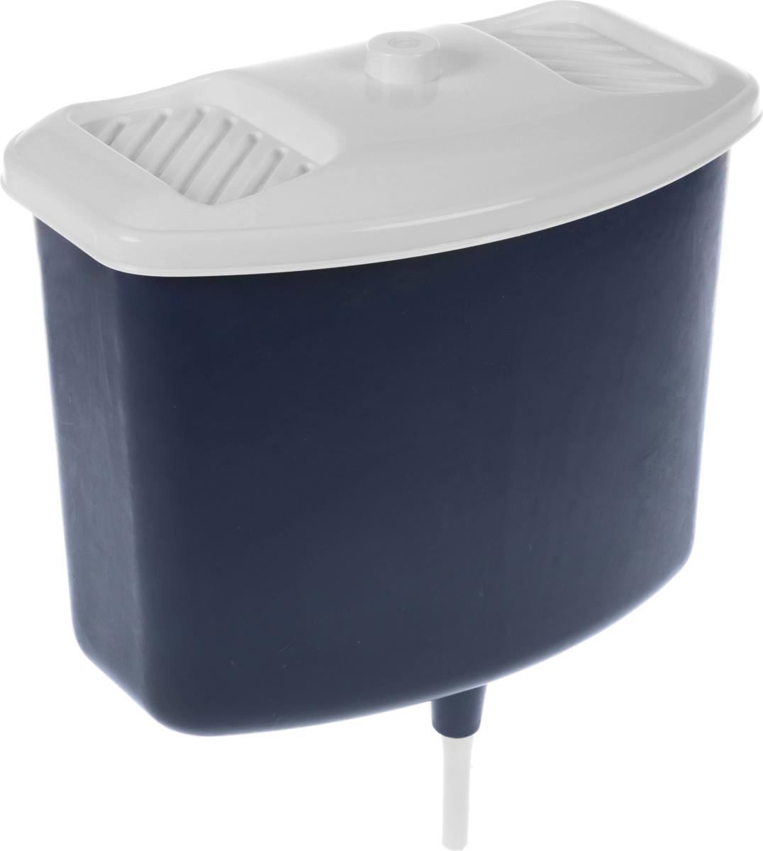 Рукомойник, с крышкой, цвет: темно-синий, белый, 5 л2175777_темно-синийОригинальный рукомойник поможет вам поддерживать чистоту рук на вашем дачном участке. Рукомойник изготовлен прочного пластика. Крышка плотно прилегает к рукомойнику, что препятствует попаданию грязи и пыли в воду.На крышке рукомойника предусмотрены места под мыло.