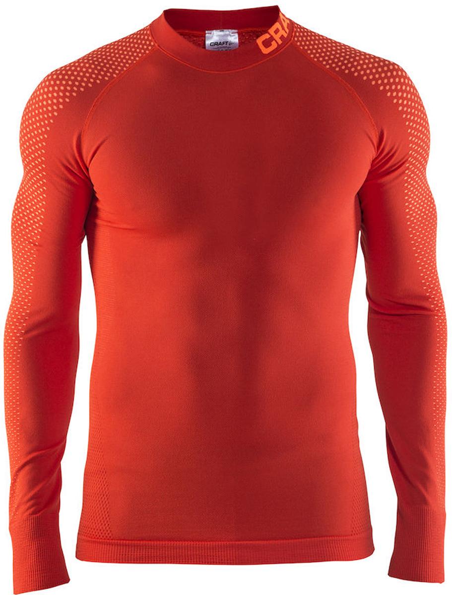 Термобелье кофта мужская Craft Warm Intensity, цвет: красный. 1905350/566576. Размер L (50)1905350/566576Термокофта от Craft с эргономичной посадкой и обтягивающим дизайном для оптимальной терморегуляции. Модель с длинными рукавами и небольшим воротником-стойкой выполнена из полиамида с добавлением полиэстера и эластана.