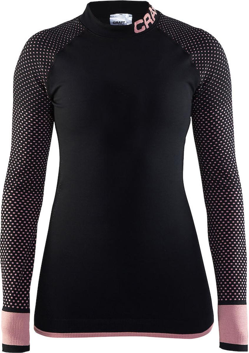 Термобелье кофта женская Craft Warm Intensity, цвет: черно-розовый. 1905347/999701. Размер M (46)1905347/999701Рубашка с эргономичной посадкой и обтягивающим дизайном для оптимальной терморегуляции.