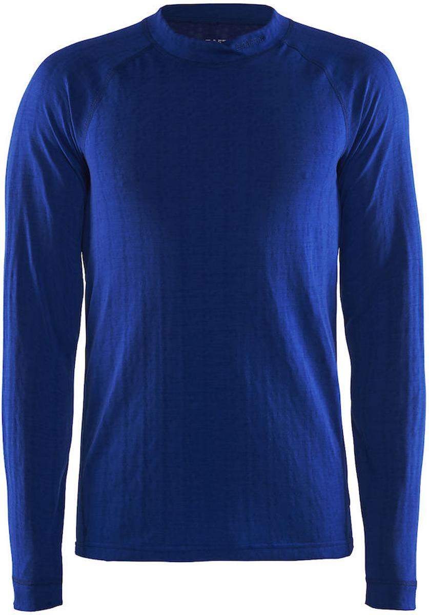 Термобелье кофта мужская Craft Nordic Wool, цвет: синий. 1904116/2386. Размер XL (52)1904116/2386Мягкая кофта от Craft, выполненная из мериносовой шерсти, полиэстера и полиамида для оптимальной терморегуляции. Модель с длинными рукавами и круглым вырезом горловины.