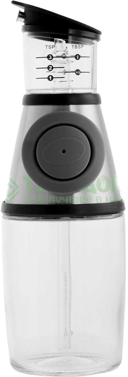 Диспенсер для масла и уксуса SinoGlass, 250 мл. SI-8407740-ALSI-8407740-ALСтильный диспенсер SinoGlass выполнен из высококачественного стекла, пластика, стали и силиконовой вставки. Изделие поможет вам добавить в блюдо необходимое количество масла или уксуса. Нужно просто нажать кнопку и жидкость из бутыли попадает в измерительную емкость. Стеклянный контейнер позволяет следить за уровнем и легко определить нужное вам количество жидкости.Измерения с делениями (чайные ложки, столовые ложки и миллилитры) расположены на каждой стороне и легко читаются. Изделие легко моется.