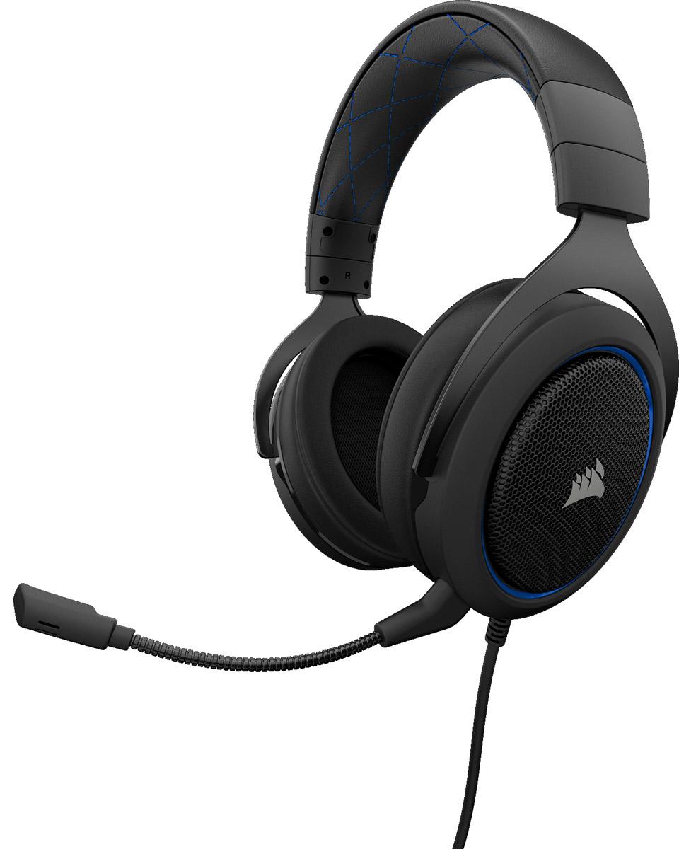 Corsair Gaming HS50, Blue игровая гарнитураCA-9011172-EUИгровая стереогарнитура Corsair HS50. Разработана для комфорта, создана для битвИгровая стереогарнитура Corsair HS50 обеспечивает комфортное использование, высокое качество звука и долговечность, необходимые для продолжительной игры. Непревзойденный уровень комфорта и качестваРегулируемые амбушюры из плюша с эффектом памяти обеспечивают исключительный комфорт. Легендарное качество сборки прочных металлических элементов конструкции Corsair является гарантией долговечности. Кристально чистый звукСпециально настроенные неодимовые динамики 50 мм точно воспроизводят звук превосходного качества в широком диапазоне. Оптимизированный однонаправленный микрофон снижает уровень окружающего шума для улучшения качества звука голоса и легко отсоединяется для использования на ходу. Сертифицировано DiscordИграйте с уверенностью в том, что ваш микрофон и динамики, прошедшие тестирование и оценку, обеспечат непревзойденную связь без помех и отличный звук. Простое управлениеЛегкий доступ к находящимся непосредственно на наушниках элементам управления громкостью и беззвучным режимом для настройки во время игры. Мультиплатформенная совместимостьПредназначена для ПК, Xbox One*, PS4, Nintendo Switch и мобильных устройств.* Может понадобиться адаптер Microsoft (приобретается отдельно).Как выбрать игровые наушники. Статья OZON Гид