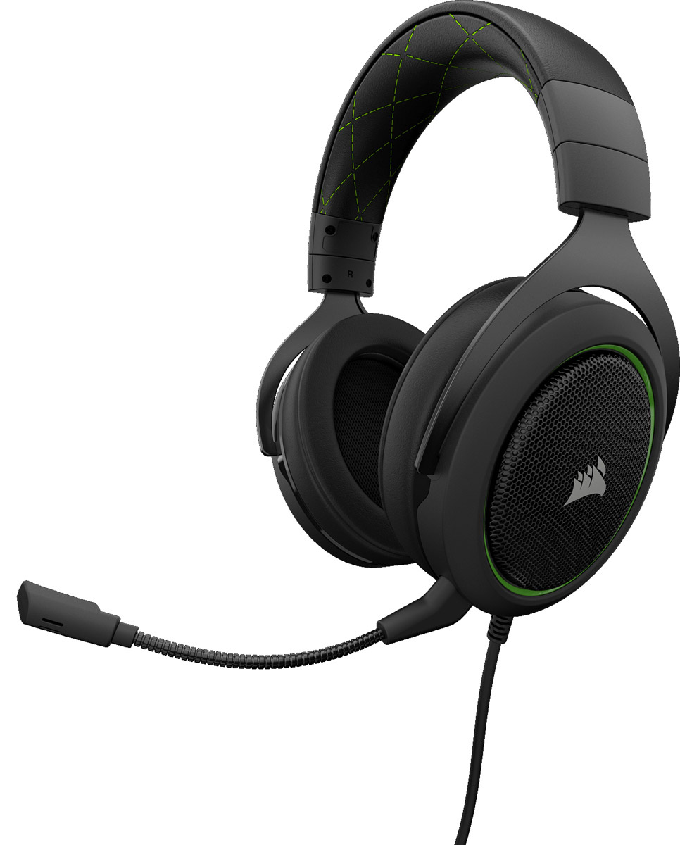 Corsair Gaming HS50, Green игровая гарнитураCA-9011171-EUИгровая стереогарнитура Corsair HS50. Разработана для комфорта, создана для битвИгровая стереогарнитура Corsair HS50 обеспечивает комфортное использование, высокое качество звука и долговечность, необходимые для продолжительной игры. Непревзойденный уровень комфорта и качестваРегулируемые амбушюры из плюша с эффектом памяти обеспечивают исключительный комфорт. Легендарное качество сборки прочных металлических элементов конструкции Corsair является гарантией долговечности. Кристально чистый звукСпециально настроенные неодимовые динамики 50 мм точно воспроизводят звук превосходного качества в широком диапазоне. Оптимизированный однонаправленный микрофон снижает уровень окружающего шума для улучшения качества звука голоса и легко отсоединяется для использования на ходу. Сертифицировано DiscordИграйте с уверенностью в том, что ваш микрофон и динамики, прошедшие тестирование и оценку, обеспечат непревзойденную связь без помех и отличный звук. Простое управлениеЛегкий доступ к находящимся непосредственно на наушниках элементам управления громкостью и беззвучным режимом для настройки во время игры. Мультиплатформенная совместимостьПредназначена для ПК, Xbox One*, PS4, Nintendo Switch и мобильных устройств.* Может понадобиться адаптер Microsoft (приобретается отдельно).Как выбрать игровые наушники. Статья OZON Гид