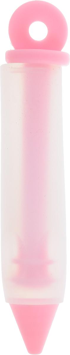 Шприц кондитерский Доляна Фобос, цвет: светло-розовый, 12 х 2 см708036_светло-розовыйКондитерский шприц Доляна Фобос, изготовленный из пластика и силикона, предназначен для помещения и выдавливания разных кремов, в основном служащих для украшения пирожных и тортов. Кондитерский шприц - превосходный инструмент, который облегчает и ускоряет процесс украшения печенья, бисквитов, пряников и т.д., идеален для украшения десертов и пирогов сливками или заварным кремом, для заполнения пончиков джемом, а также для украшения бутербродов, тостов и канапе паштетом, маслом, плавленым сыром. Праздничный стол требует особого внимания! Благодаря удивительному помощнику вы быстро и легко приготовите выпечку любой формы, какой только пожелаете, а блюдо будет выглядеть по-настоящему празднично.