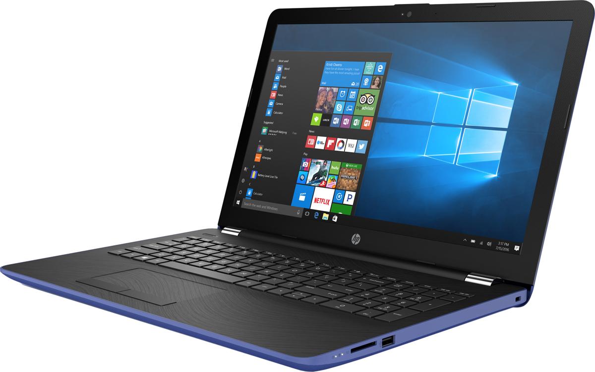 HP 15-bs598ur, Marine Blue (2PV99EA)512761Стильный ноутбук HP 15-bs598ur, помимо выполнения повседневных задач, поможет вам оставаться на связи весьдень. Благодаря неизменно высокой производительности и длительному времени работы от аккумулятора выможете с комфортом пользоваться Интернетом, вести потоковое вещание и оставаться на связи с нужнымилюдьми.Новейшие процессоры Intel обеспечивают неизменно высокую производительность, которая необходима дляработы и развлечений. Надежность и долговечность ноутбука позволят легко выполнять все необходимыезадачи.Развлекайтесь и оставайтесь на связи с друзьями и семьей благодаря превосходному дисплею HD (или Full HD внекоторых моделях) и камере HD в некоторых моделях. Кроме того, с этим ноутбуком ваши любимые музыка,фильмы и фотографии будут всегда с вами.Продуманная конструкция и замечательный дизайн этого ноутбука HP с дисплеем диагональю 39,6 см (15,6)идеально подойдут для вашего образа жизни. Изящное оформление, оригинальное покрытие и хромированноешарнирное крепление (на некоторых моделях) добавят немного цвета в будни.Полноразмерная клавиатура островного типа с цифровой клавишной панелью.Сенсорная панель с поддержкой технологии Multi-Touch.Точные характеристики зависят от модификации.Ноутбук сертифицирован EAC и имеет русифицированную клавиатуру и Руководство пользователя