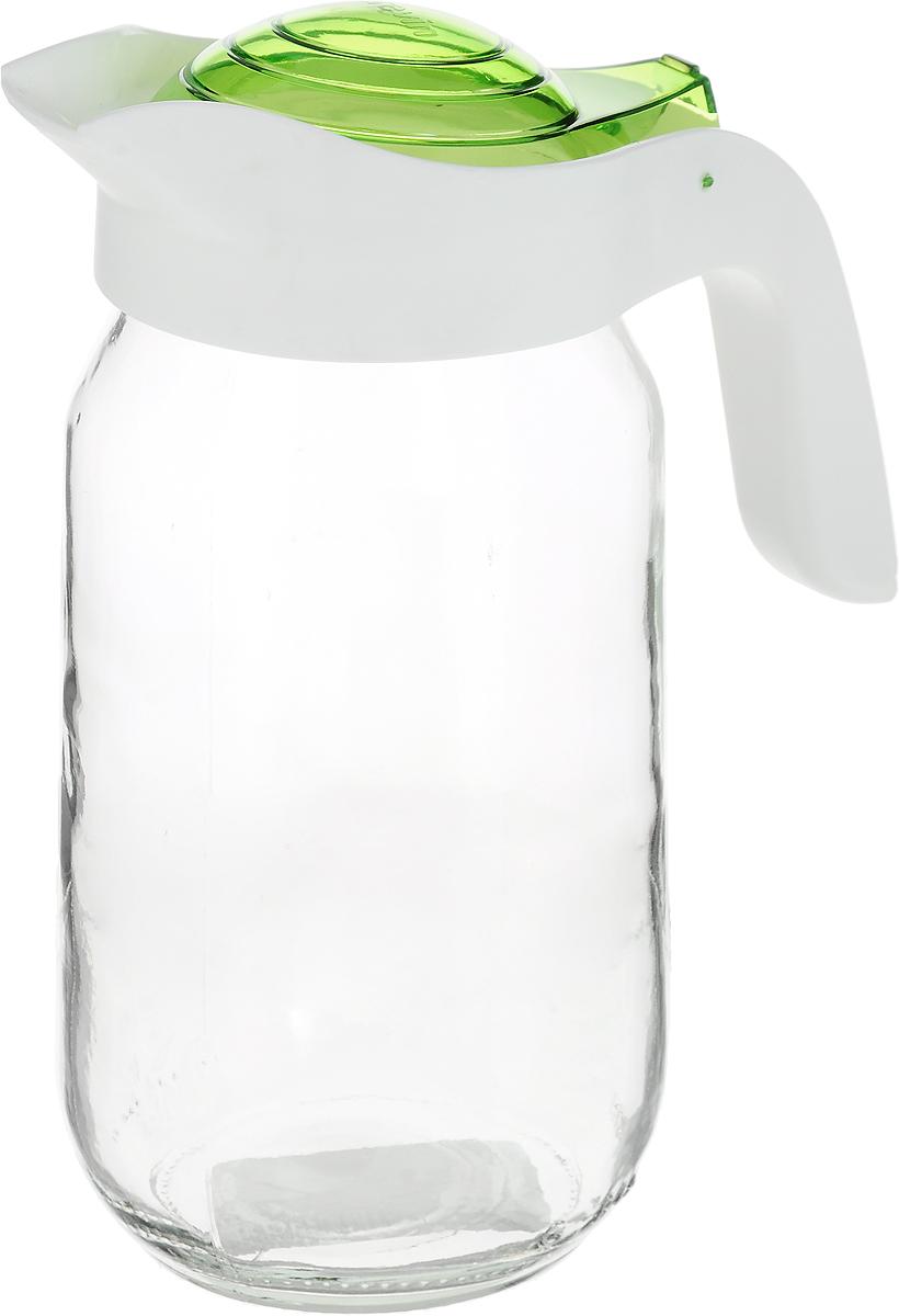 Кувшин Herevin 1 л.111271-205_зеленыйКувшин Herevin, выполненный из высококачественного прочного стекла, элегантно украсит ваш стол. Кувшин оснащен удобной ручкой и плотно закрывающейся пластиковой крышкой. Благодаря этому внутри сохраняется герметичность, и напитки дольше остаются свежими. Кувшин прост в использовании, достаточно просто наклонить его и налить ваш любимый напиток. Форма крышки обеспечивает наливание жидкости без расплескивания. Изделие прекрасно подойдет для подачи воды, сока, компота и других напитков.Кувшин Herevin дополнит интерьер вашей кухни и станет замечательным подарком к любому празднику.