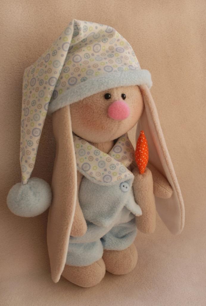 Набор для изготовления текстильной игрушки Ваниль  Зайка Сплюшка , высота 20 см - Игрушки своими руками