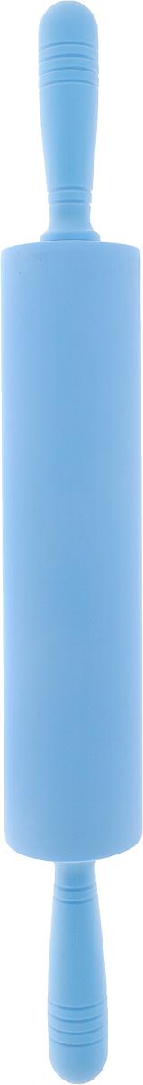 Скалка Доляна Севилья, цвет: голубой, 52 х 6,5 см1569765_голубойСкалка - необходимый на кухне предмет. Изделие из силикона представляет собой усовершенствованную версию привычного инструмента. Яркий дизайн делает предмет украшением арсенала каждого повара. Готовку облегчают удобные ручки.