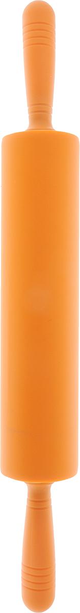 Скалка Доляна Севилья, цвет: оранжевый, 52 х 6,5 см1569765_оранжевыйСкалка — необходимый на кухне предмет. Изделие из силикона представляет собой усовершенствованную версию привычного инструмента. Яркий дизайн делает предмет украшением арсенала каждого повара. Готовку облегчают удобные ручки.