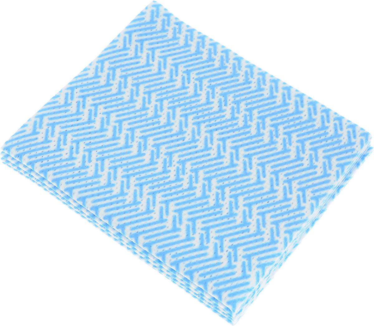 Салфетка бамбуковая La Chista, цвет: голубой, 30 х 34 см, 5 шт870342_голубойБамбуковая салфетка для уборки La Chista предназначена для удаления жира и загрязнений с любых поверхностей без использования моющих средств.Особенности салфетки:- жироотталкивающие свойства;- антибактериальный эффект.Состав: 70% бамбуковое волокно, 20% полиэстер, 10% вискоза.Размер салфетки: 30 см х 34 см.