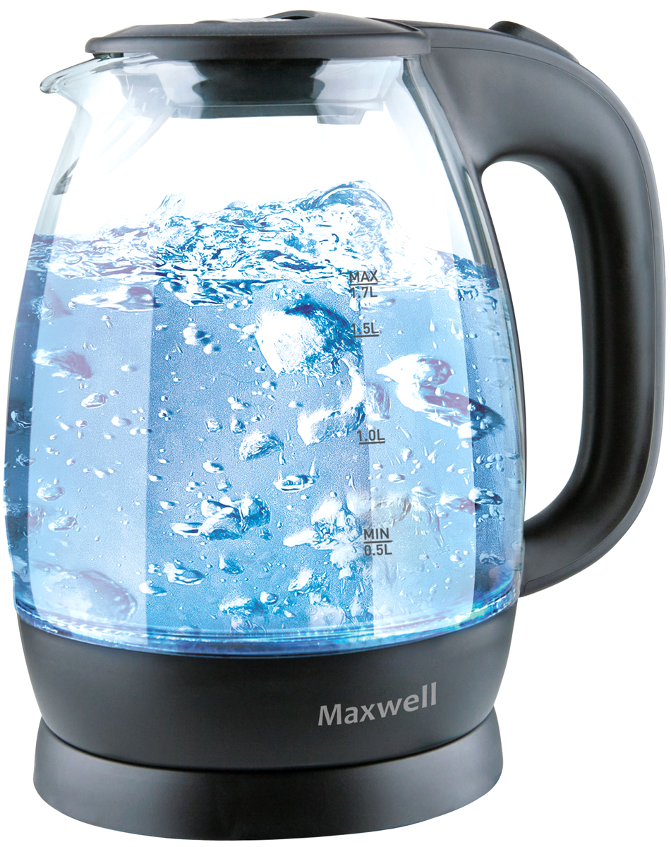 Maxwell MW-1083(TR), Black электрический чайник