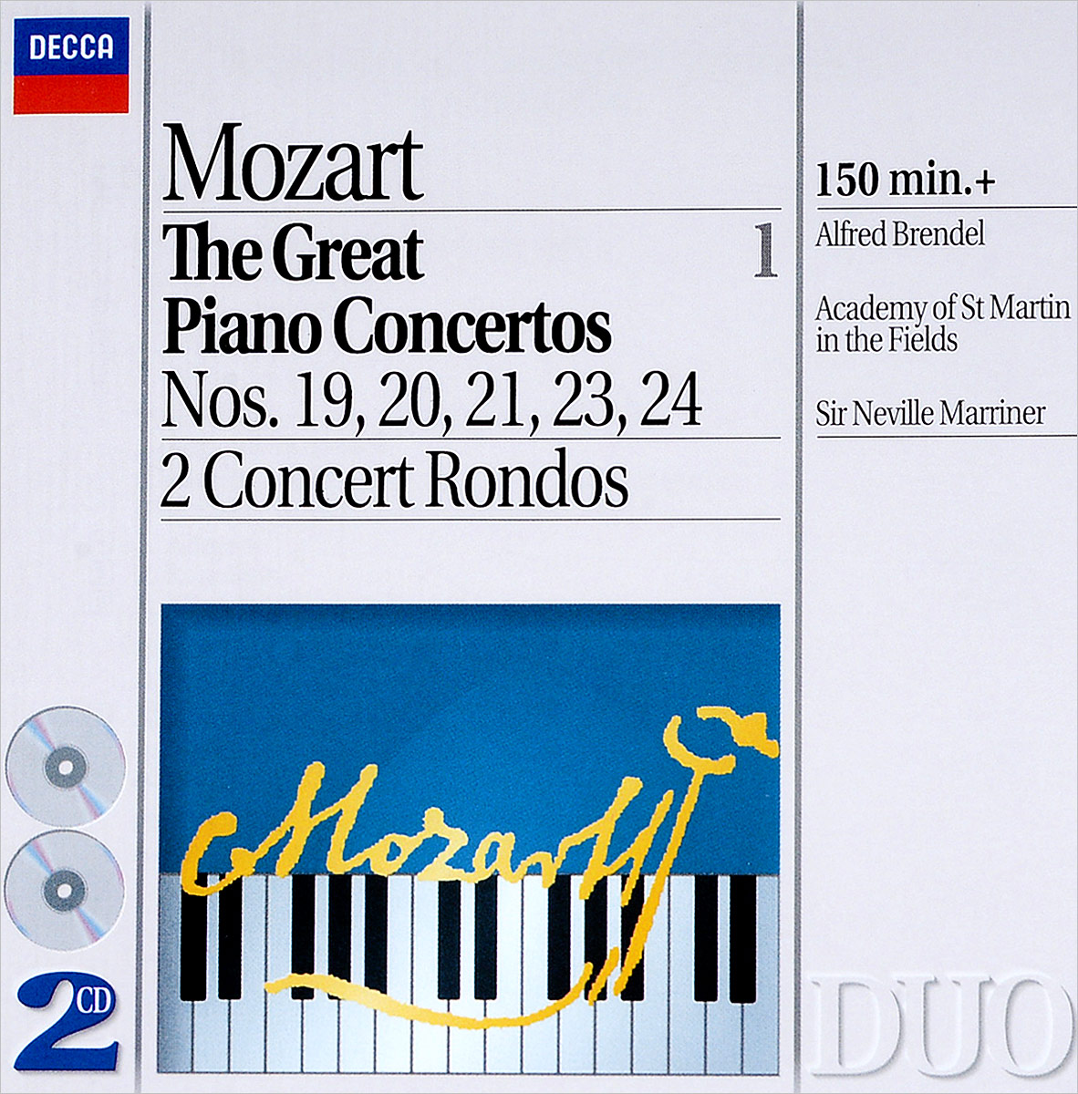 Альфред Брендель Alfred Brendel. Mozart: The Great Piano Concertos, Vol.1 (2 CD) цена