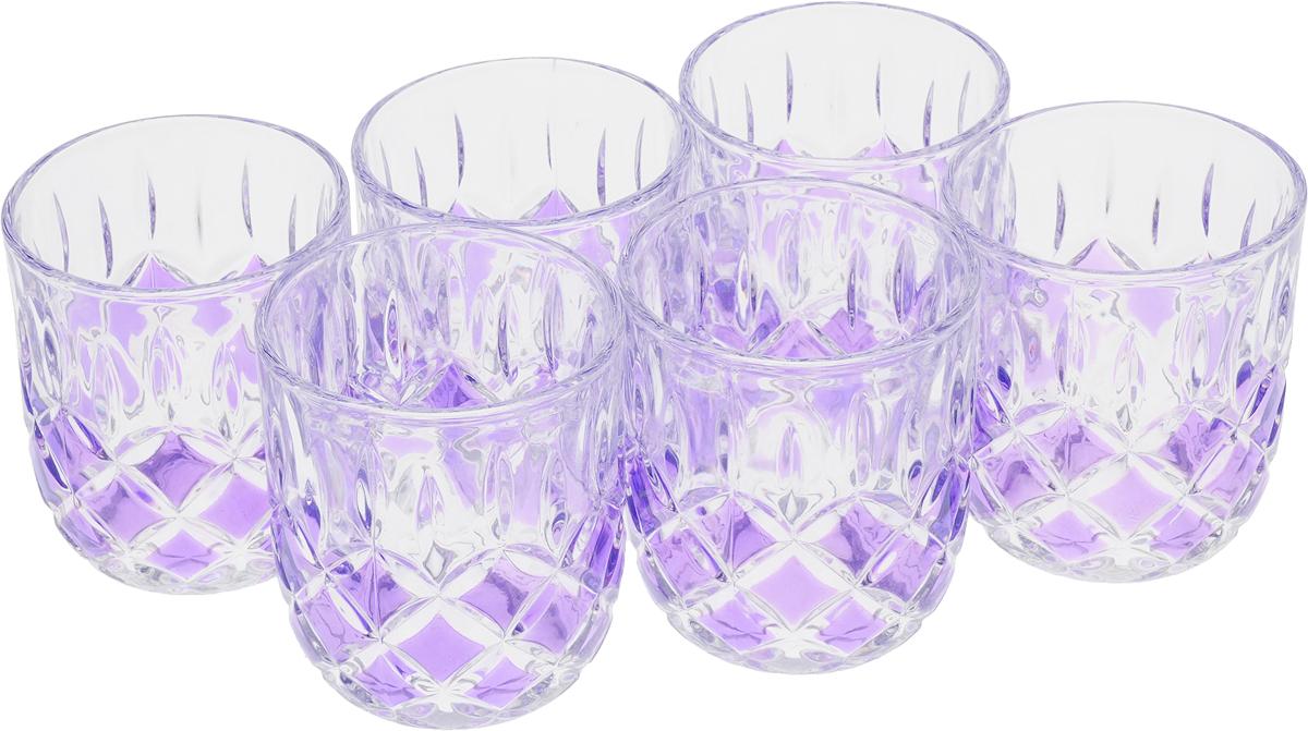 Набор стаканов Loraine, цвет: сиреневый, 210 мл, 6 шт20221_сиреневыйНабор Loraine состоит из шести стаканов. Изделия выполнены из высококачественного стекла. Предметы набора имеют прозрачную поверхность и декорированы рельефными изображениями в виде ромбов. Они излучают приятный блеск и издают мелодичный звон. Набор Loraine прекрасно оформит интерьер кабинета или гостиной и станет отличным дополнением бара. Такой набор также станет хорошим подарком к любому случаю. Диаметр стакана (по верхнему краю): 7,5 см. Высота стакана: 8 см. Объем стакана: 210 мл.