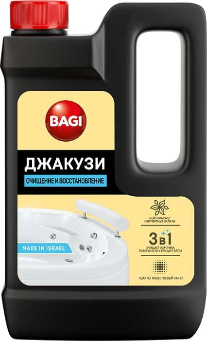Средство для ванной и туалета Bagi Джакузи, 550 млBG-B-208993-0Концентрированное средство Bagi Джакузи предназначено для чистки гидромассажных ванн, джакузи и бассейнов.Мультидействие 3 в 1: чистит поверхности, форсунки, придает блеск. Удаляет налет, грязь, остатки мыла и жира, плесень и водоросли, а также неприятный запах. Пролонгированный эффект - препятствует появлению водорослей, плесени и грибка в течение 1 месяца. Безопасно для всех видов труб и сантехнических поверхностей. Колпачок с защитой от детей.
