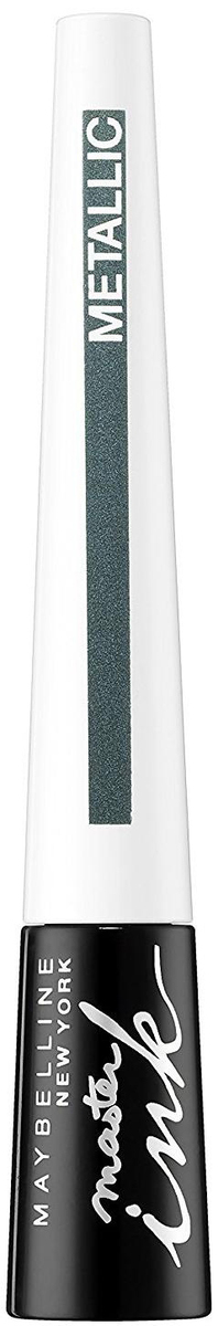 Maybelline New York Жидкая подводка для глаз Master Ink Metallic, оттенок 33, Glimmer Gree, 9 г