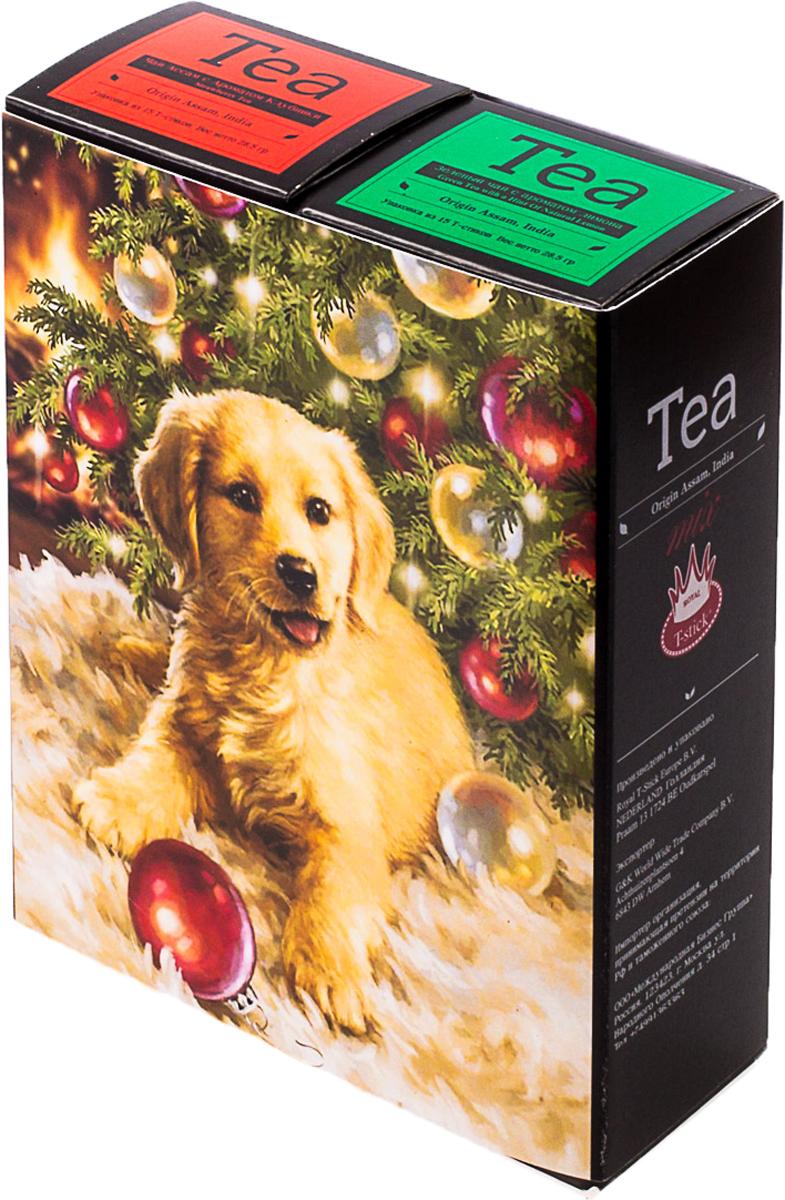 Подарочный набор Royal T-Stick: Green Tea зеленый чай и Strawberry Tea черный чай, в стиках, 30 шт. 20181352018135Подарочный набор из двух пачек чая премиум класса,упакован в коробку для транспортировки. Зеленый чай с ароматом лимона порадует Вас своим золотистым цветом ,нежным ароматом лимона и освежающим послевкусием. Обогащение зеленого чая ароматом лимона усиливает полезные свойства природных антиоксидантов. Натуральный черный чай с ароматом клубники порадует вас золотисто-медовым цветом, тонким ароматом клубники, который создается путем смешивания реальных кусочков клубники и индийского чая из штата Ассам. Чай упакован в пищевую фольгу, которую можно использовать вместо ложечки для размешивания сахара. Опустите стик в кипяток, оставьте на 3 минуты, размешайте кусочек сахара. Достаньте стик из стакана, потрясите им о край стакана, так, чтобы стекли последние капли, и положите рядом. Вся влага останется внутри стика. Прекрасный подарок родным и близким,и отличный повод удивить коллег по работе и друзей, внедряя новую, элегантную культуру чаепития!Всё о чае: сорта, факты, советы по выбору и употреблению. Статья OZON Гид