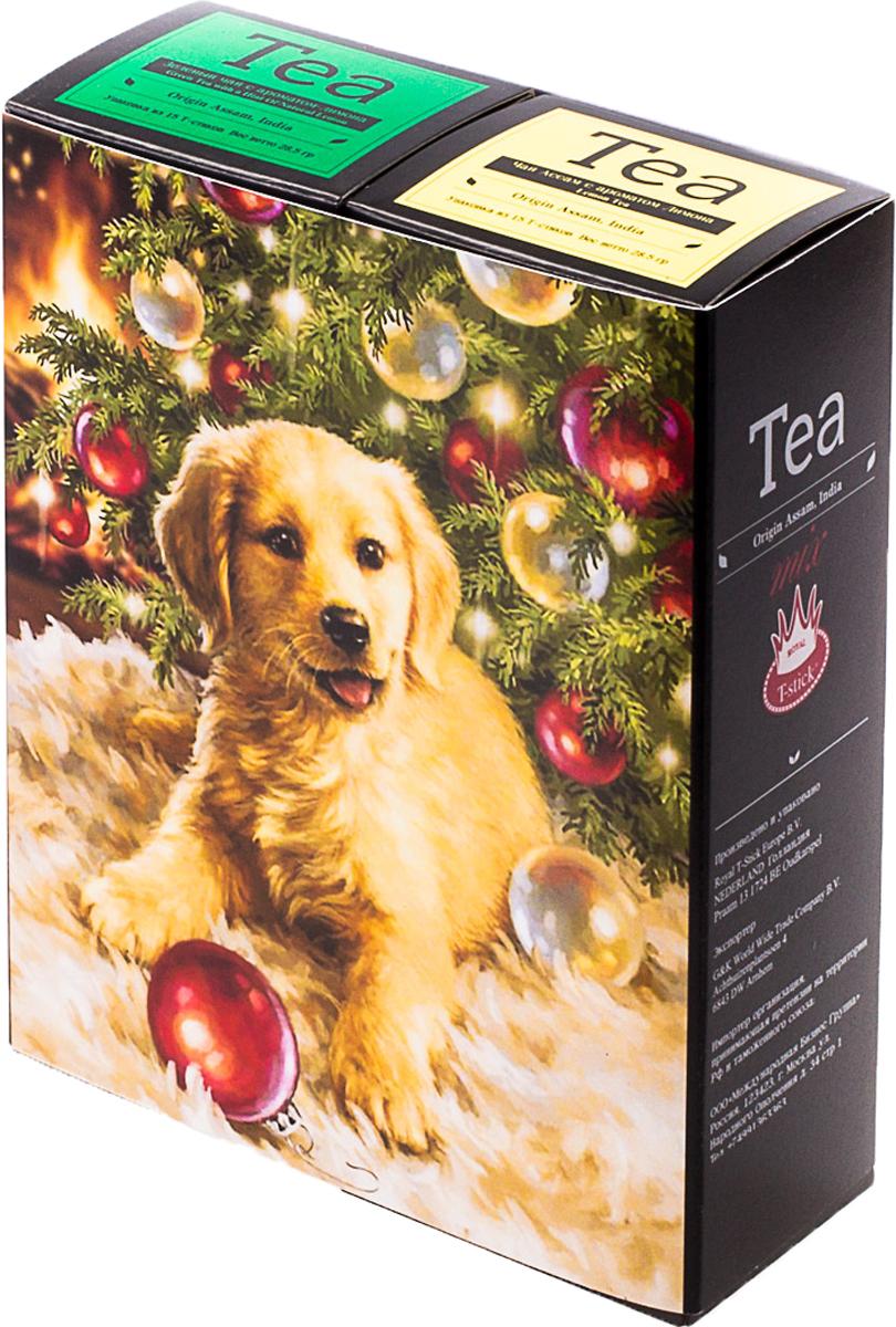 Подарочный набор Royal T-Stick: Green Tea with a Hint of Natural Lemon зеленый чай и Lemon Tea черный чай, в стиках, 30 шт. 20181342018134Подарочный набор из двух пачек чая премиум класса,упакован в коробку для транспортировки. Зеленый чай с ароматом лимона порадует Вас своим золотистым цветом ,нежным ароматом лимона и освежающим послевкусием. Обогащение зеленого чая ароматом лимона усиливает полезные свойства природных антиоксидантов. Натуральный черный чай с ароматом лимона порадует вас золотисто-медовым цветом, тонким ароматом лимона, который создается путем смешивания реального лимона и индийского чая из штата Ассам. Чай упакован в пищевую фольгу, которую можно использовать вместо ложечки для размешивания сахара. Опустите стик в кипяток, оставьте на 3 минуты, размешайте кусочек сахара. Достаньте стик из стакана, потрясите им о край стакана, так, чтобы стекли последние капли, и положите рядом. Вся влага останется внутри стика. Прекрасный подарок родным и близким,и отличный повод удивить коллег по работе и друзей, внедряя новую, элегантную культуру чаепития!Всё о чае: сорта, факты, советы по выбору и употреблению. Статья OZON Гид