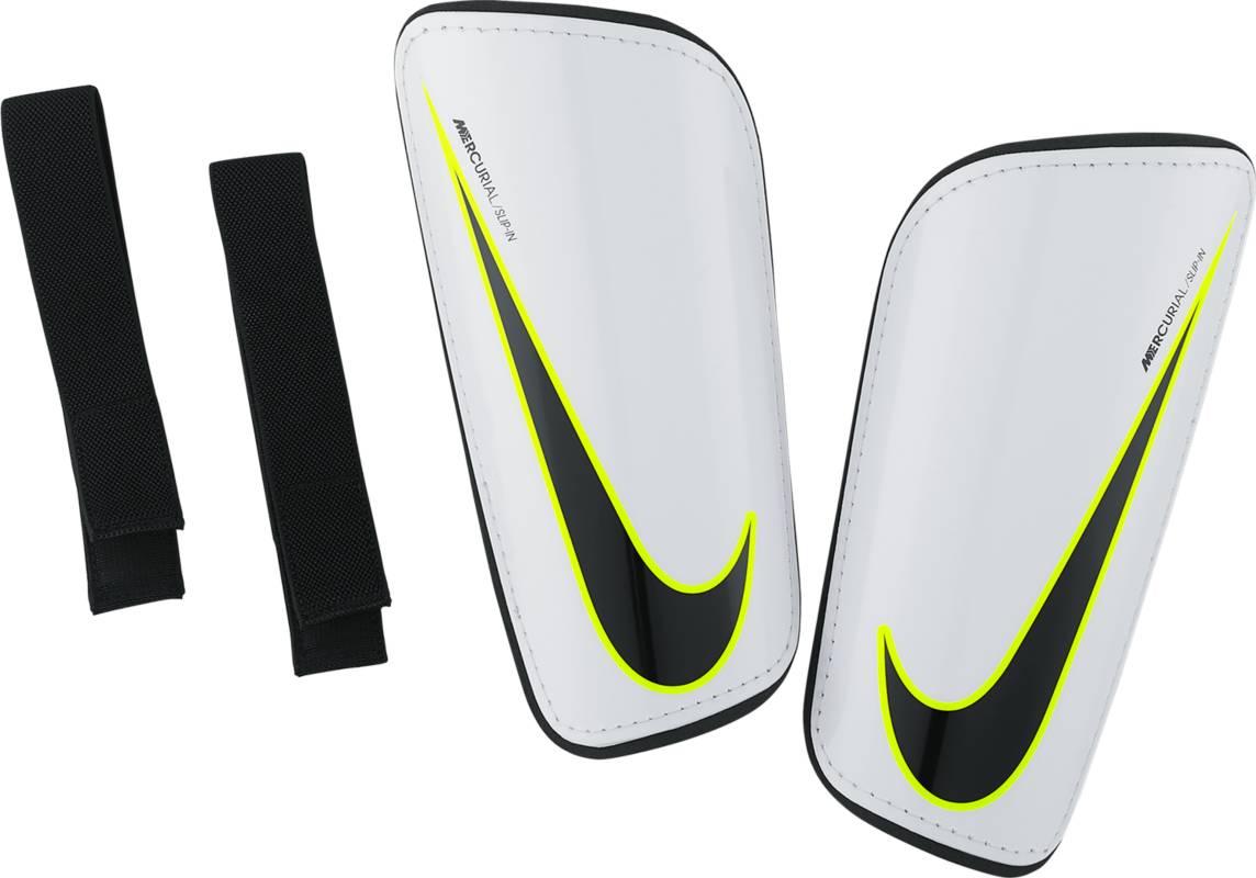 Щитки Nike Mercurial Hardshell, цвет: белый. SP2101-100. Размер MSP2101-100Футбольные щитки Nike Mercurial Hardshell - это легкая конструкция с превосходной амортизацией для защиты и функциональности, которая соответствует требованиям профессиональной игры.Низкопрофильная конструкция защищает от трения. Специальный дизайн для левой и правой ноги для естественной посадки. К прочному защитному покрытию прилегает плотный пеноматериал, смягчающий ударные нагрузки.