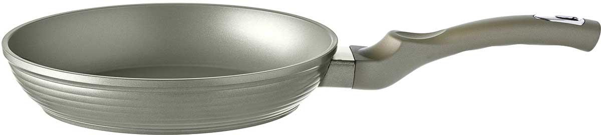 Сковорода Esprado Cascada, с антипригарным покрытием, цвет: серебристый. Диаметр 22 см сковорода нмп невская 24см 2473н