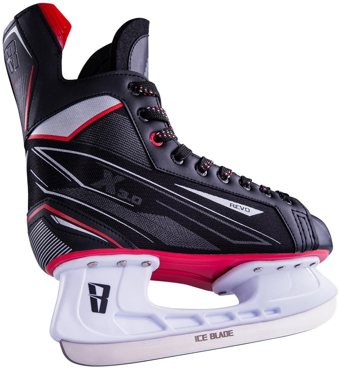 """Коньки хоккейные мужские Ice Blade """"Revo"""", цвет: черный, красный. Размер 37"""