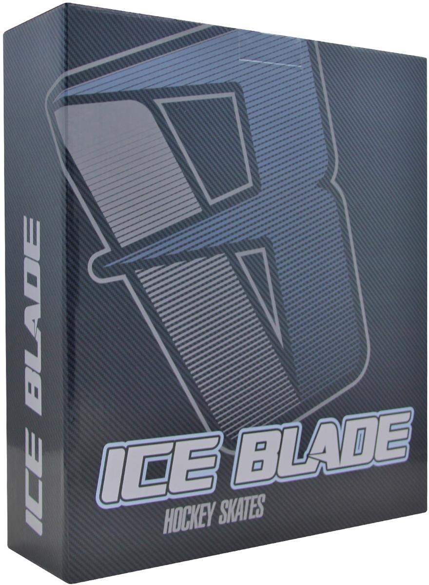 """Хоккейные коньки Ice Blade """"Vortex"""" являются официальной лицензионной продукцией Континентальной Хоккейной Лиги (КХЛ). Это прекрасная любительская модель коньков с уникальным стильным ассиметричным дизайном, выполненным в новой стилистической концепции КХЛ. Модель выполнена из износостойких материалов, устойчивых к порезам. Усиленная жесткость ботинка для более уверенного катания. Дополнительные вставки из EVA и MEMORY foam обеспечат комфорт. Лезвие выполнено из высокоуглеродистой стали с покрытием из никеля. Шнуровка надежно зафиксирует модель на ноге.  Коньки подходят для использования на открытом и закрытом льду."""