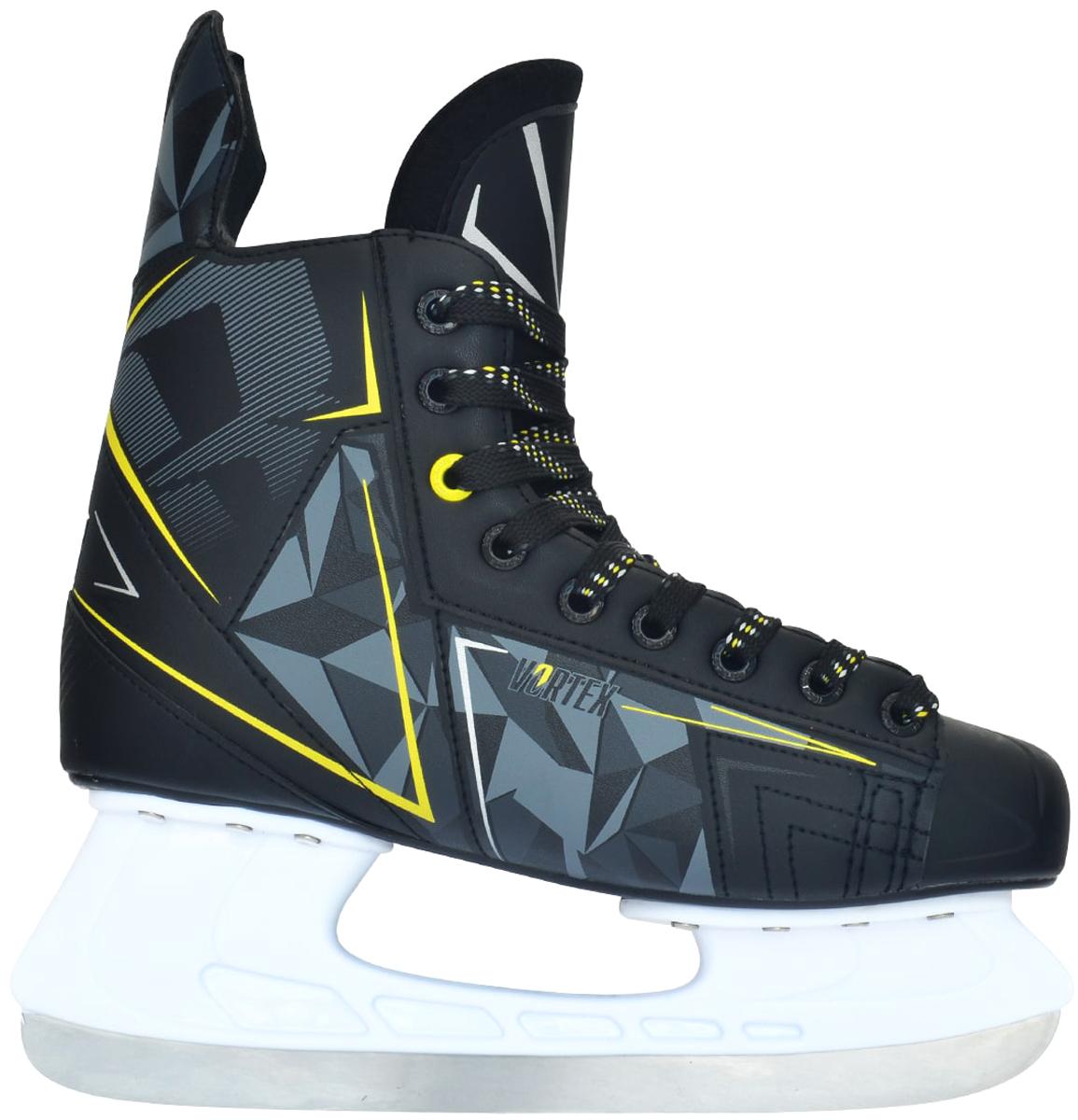 "Коньки хоккейные мужские Ice Blade ""Vortex"", цвет: серый, желтый, белый. Размер 45"