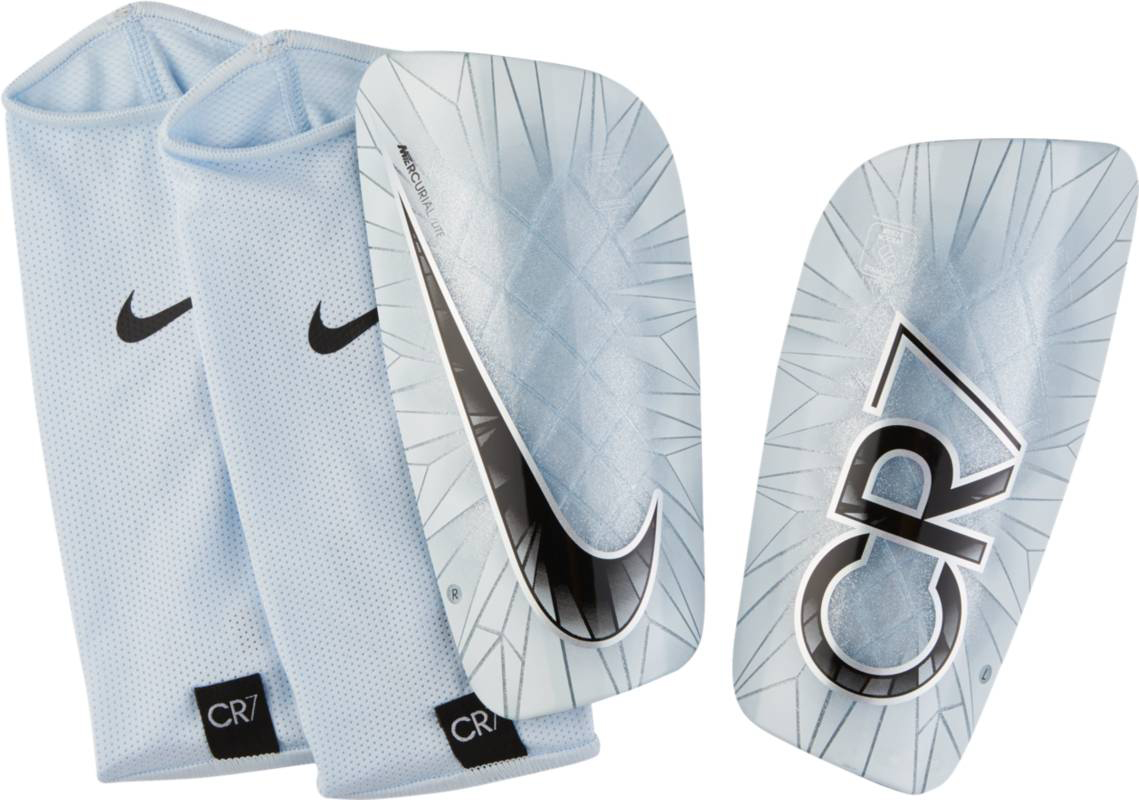 Щитки Nike CR7 Mercurial Lite, цвет: серебристый. SP2114-100. Размер M щитки nike щитки nike mercurial lite fc barcelo