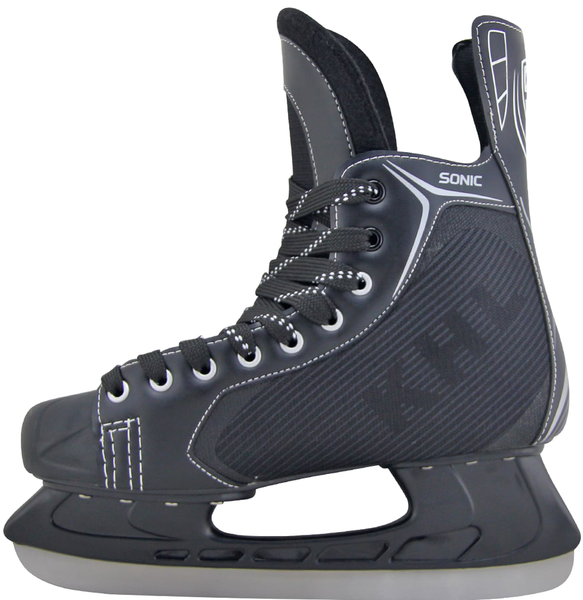 """Коньки хоккейные мужские KHL """"Sonic"""", цвет: черный, серый, белый. Размер 37"""